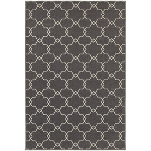 Oriental Weavers Hampton 537E5 Grey/Ivory Geometric Area Rug