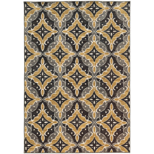 Oriental Weavers Harper 46181 Charcoal/Gold Floral Area Rug