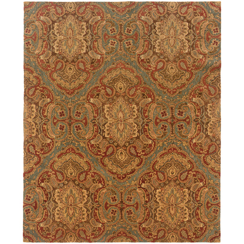 Oriental Weavers Huntley 19101 Blue/Rust Floral Area Rug