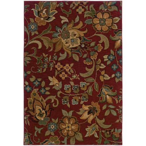 Oriental Weavers Infinity 1105B Red/Green Floral Area Rug