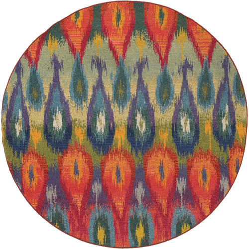 Oriental Weavers Kaleidoscope 2061Z Multi/Red Abstract Area Rug