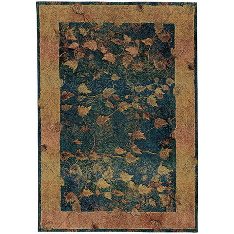 Jaipur Rugs Modern Floral Pattern Brown/Orange Wool Area Rug BL12 (Rectangle)