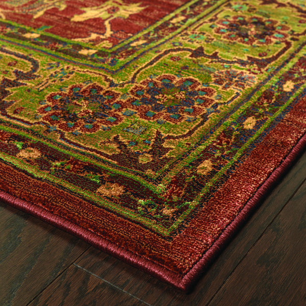 Oriental Weavers Kharma 836c4 Red Green Oriental Area Rug