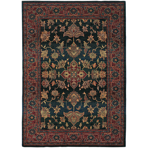 Oriental Weavers Kharma 836F4 Blue/Red Oriental Area Rug