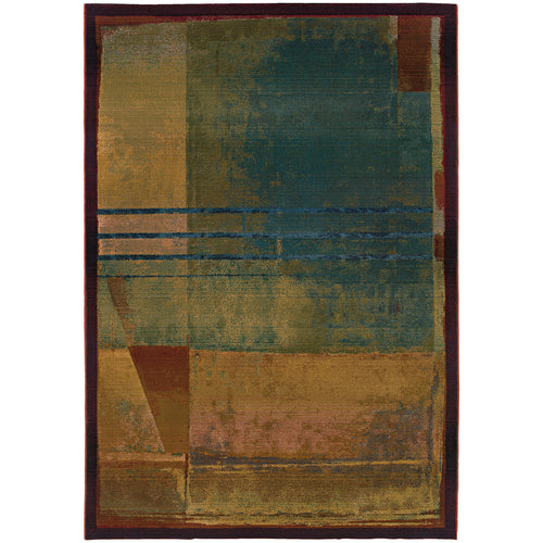 Oriental Weavers Kharma II 890X4 Red/Green Abstract Area Rug
