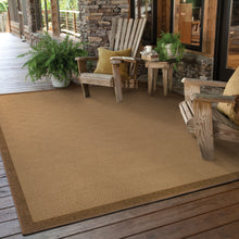 Load image into Gallery viewer, Oriental Weavers Lanai 525D7 Beige/Brown Border Area Rug