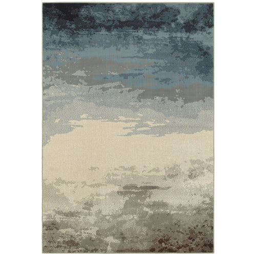 Oriental Weavers Linden 7803A Blue/ Beige Abstract Area Rug