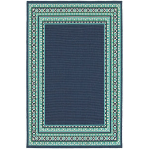 Oriental Weavers Meridian 9650B Navy/Green Border Area Rug
