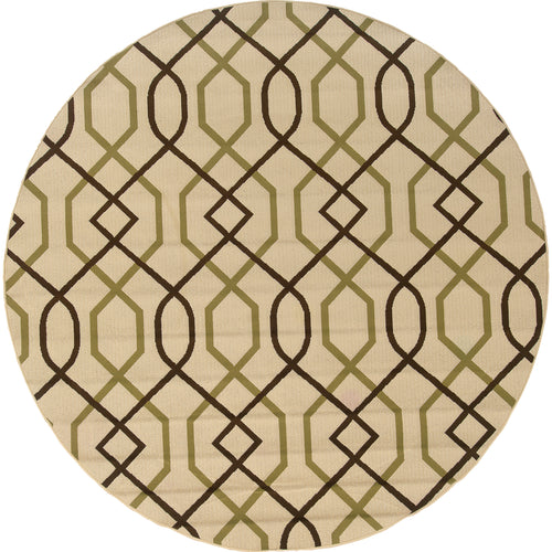 Oriental Weavers Montego 896J6 Ivory/Brown Geometric Area Rug