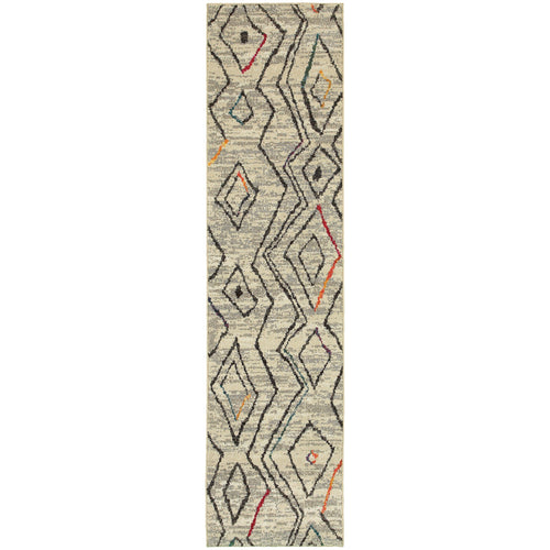 Oriental Weavers Nomad 2162W Ivory/Multi Abstract Area Rug