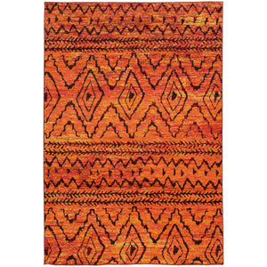Oriental Weavers Nomad 8122O Orange/Red Abstract Area Rug
