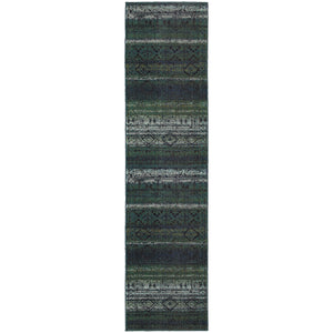 Oriental Weavers Nomad 8123G Green/Blue Abstract Area Rug