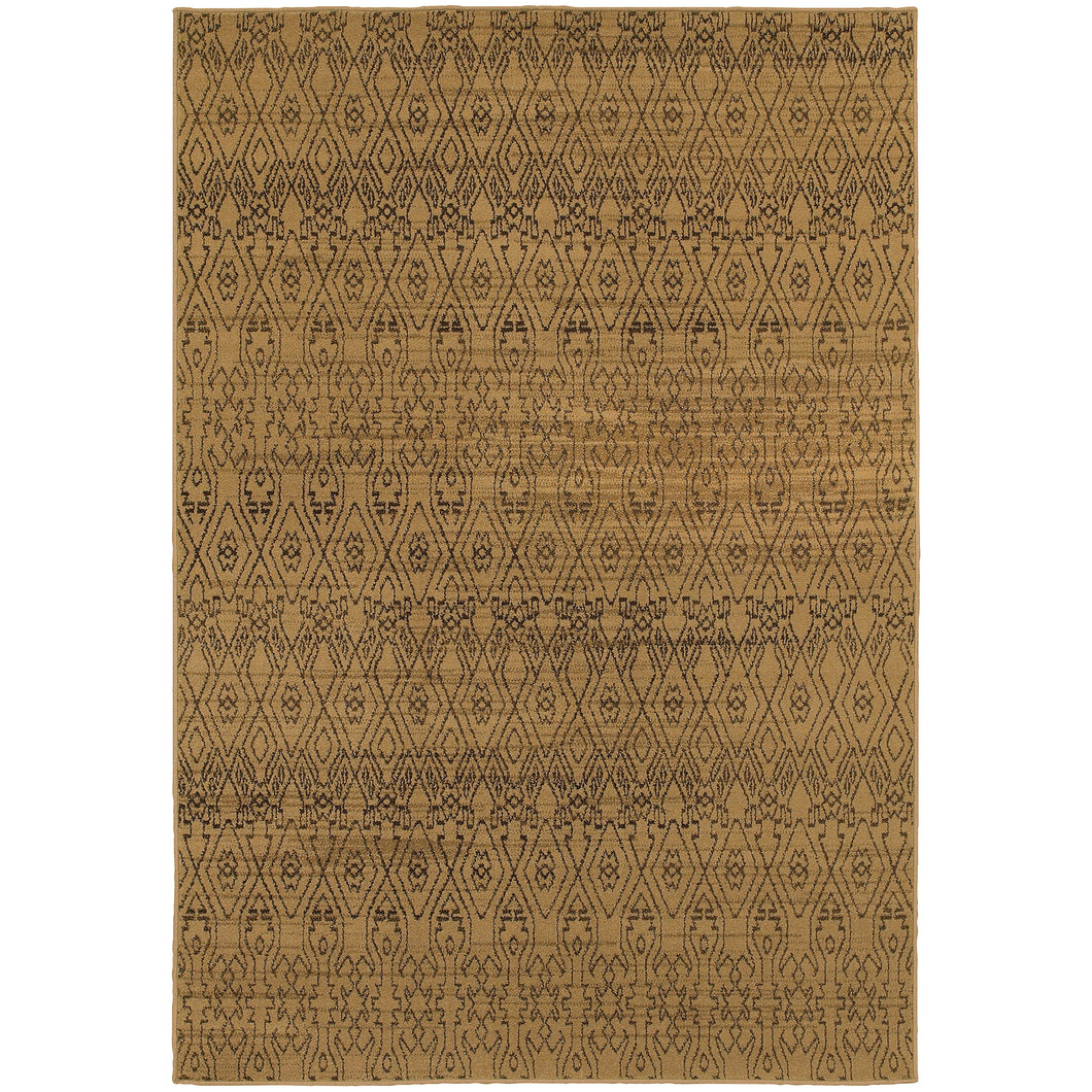 Oriental Weavers Parker 5839B Tan/Brown Tribal Area Rug