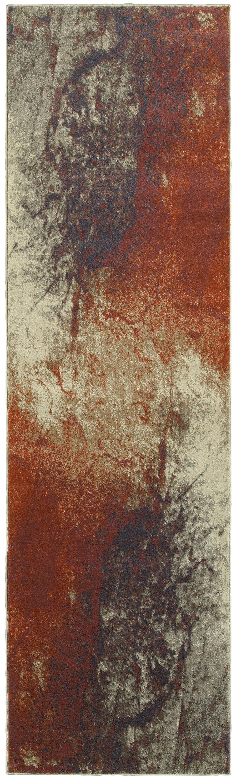 Oriental Weavers Pasha 1334E Beige/Orange Abstract Area Rug
