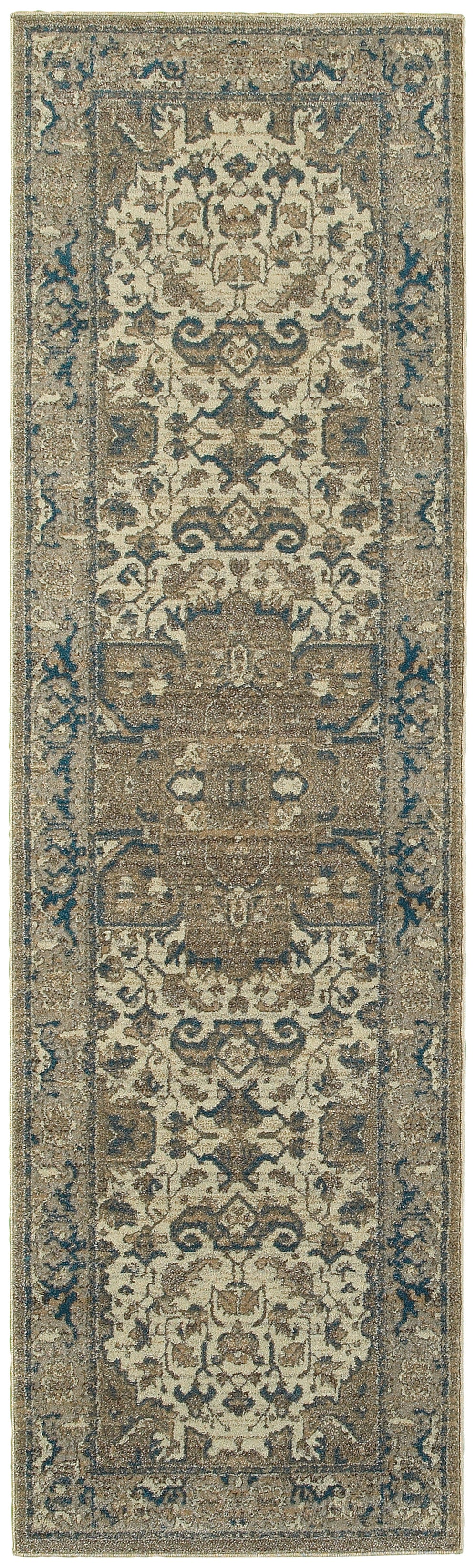 Oriental Weavers Pasha 5991D Ivory/Grey Medallion Area Rug