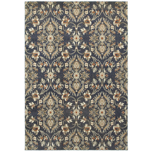 Oriental Weavers Pasha 6548S Blue/ Brown Floral Area Rug