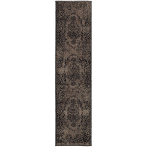 Oriental Weavers Revival 119L2 Grey/Black Oriental Area Rug