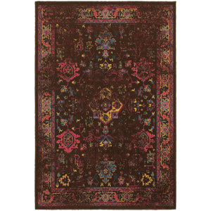 Oriental Weavers Revival 3689I Brown/Multi Oriental Area Rug