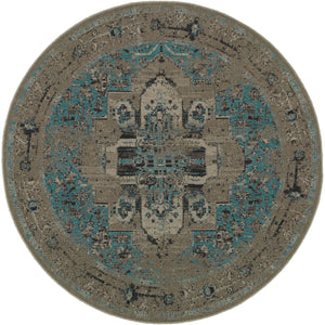 Oriental Weavers Revival 4694E Grey/Teal Oriental Area Rug
