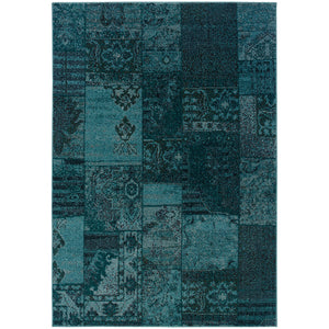 Oriental Weavers Revival 501G2 Teal/Grey Oriental Area Rug