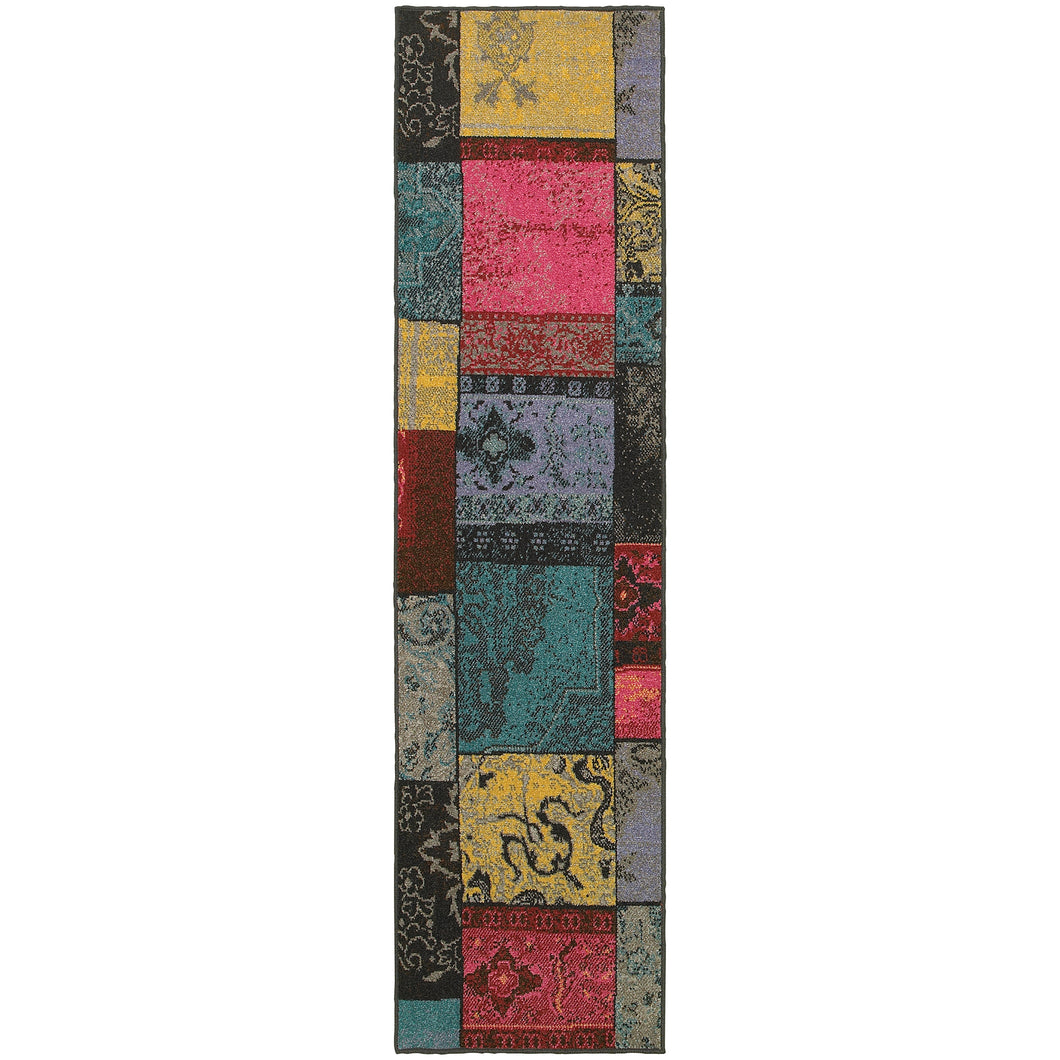 Oriental Weavers Revival 501M7 Multi/Charcoal Geometric Area Rug