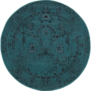 Oriental Weavers Revival 550H2 Teal/Grey Oriental Area Rug