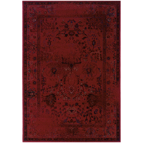 Oriental Weavers Revival 550R2 Red/Grey Oriental Area Rug
