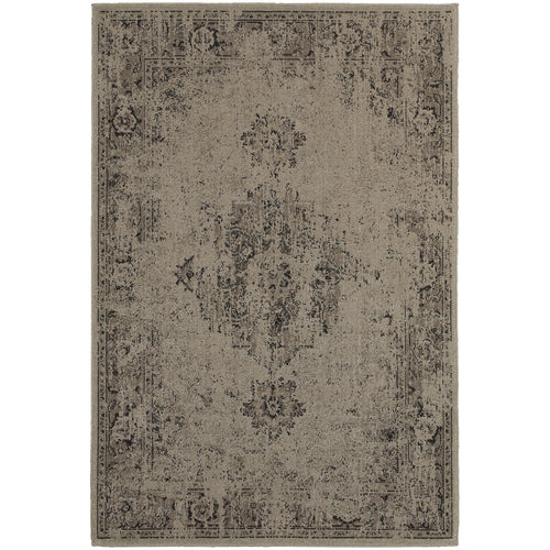 Oriental Weavers Revival 6330A Grey/Charcoal Oriental Area Rug