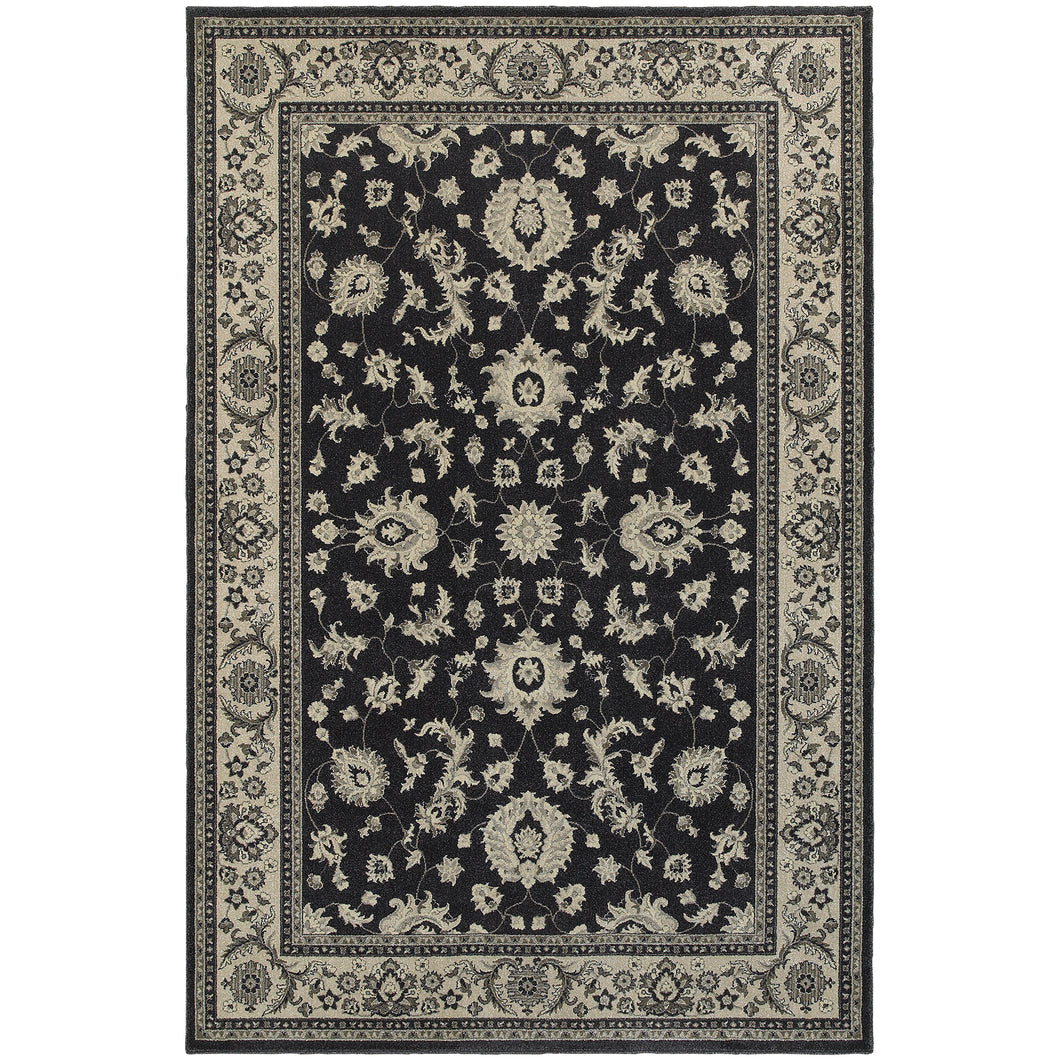 Oriental Weavers Richmond 117H3 Charcoal/Ivory Oriental Area Rug