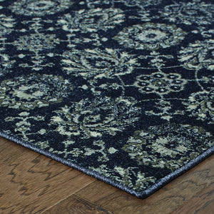 Oriental Weavers Richmond 214H3 Navy/Grey Oriental Area Rug