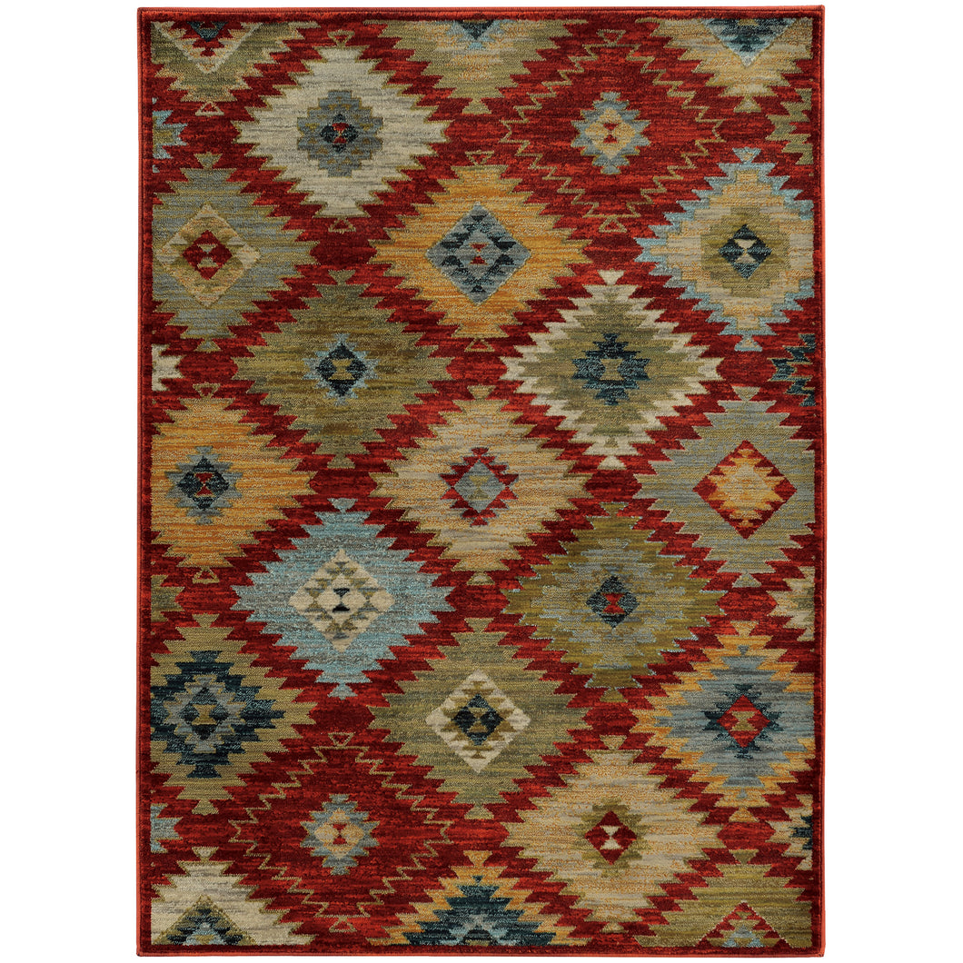 Oriental Weavers Sedona 5936D Red/Multi Geometric Area Rug