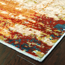 Load image into Gallery viewer, Oriental Weavers Sedona 6365A Blue/Red Abstract Area Rug