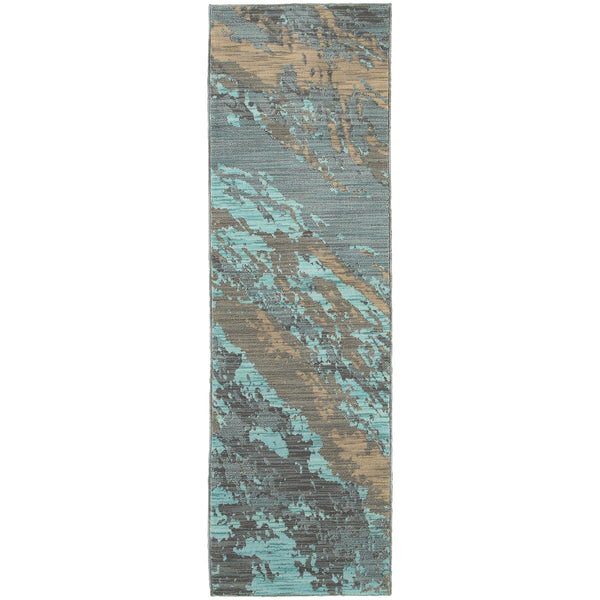 Oriental Weavers Sedona 6367a Blue Grey Abstract Area Rug
