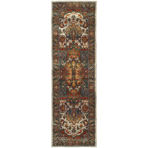 Oriental Weavers Sedona 6382B Red/Multi Oriental Area Rug