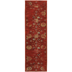 Oriental Weavers Sedona 6386E Red/Gold Oriental Area Rug