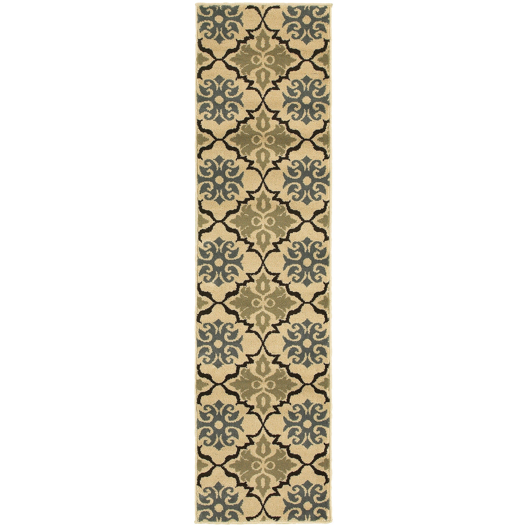 Oriental Weavers Stratton 6015A Blue/Green Floral Area Rug