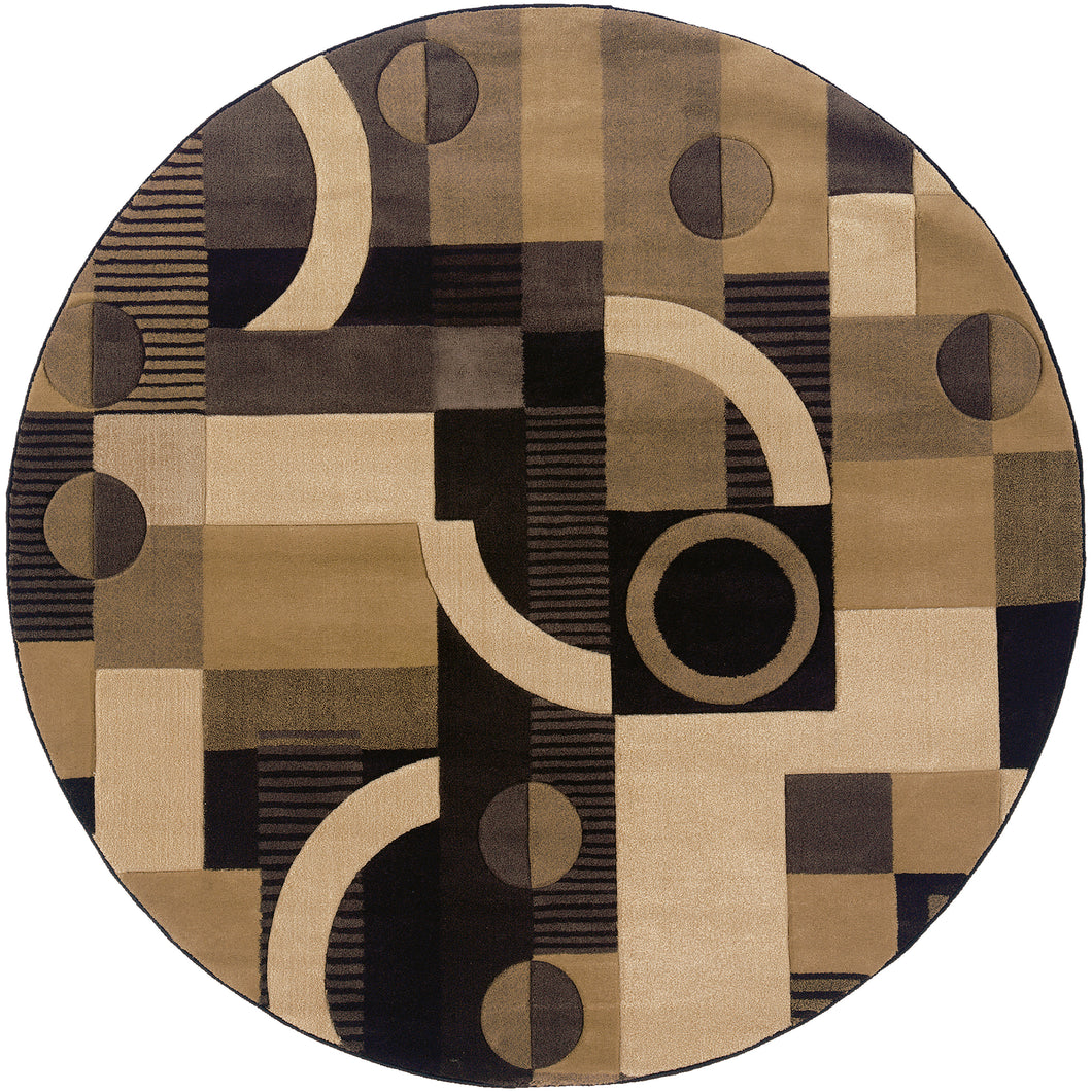 Oriental Weavers Tones 5444J Brown/Beige Geometric Area Rug