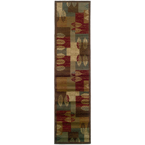 Oriental Weavers Tybee 2360R Brown/Beige Geometric Area Rug