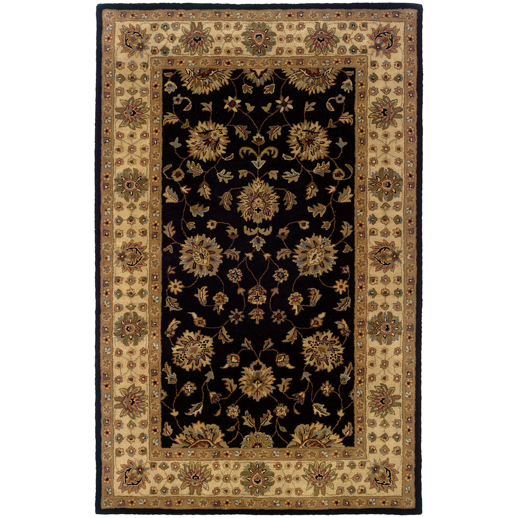 Oriental Weavers Windsor 23106 Black/Ivory Oriental Area Rug