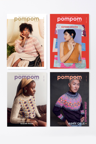 4 issues of Pompom magazine