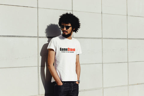 GameStonk: Power To The Traders T-Shirt - Modern Geek Store