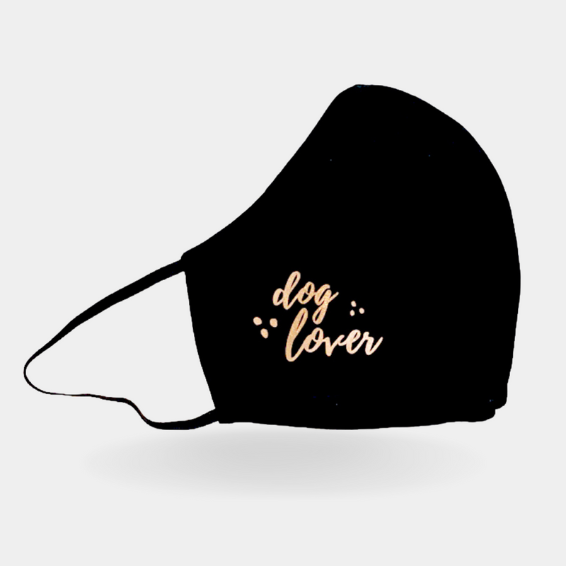 Maske DOG LOVER black