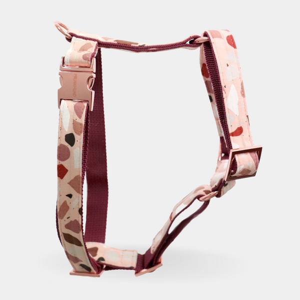 Dog harness MARBLE BLUSH