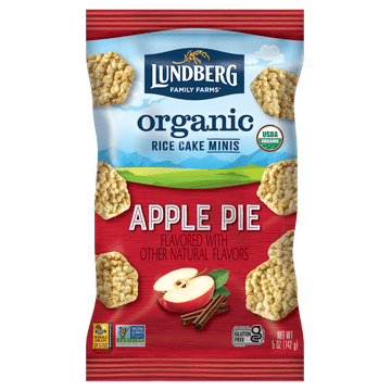Organic Rice Cake Minis - Apple Pie