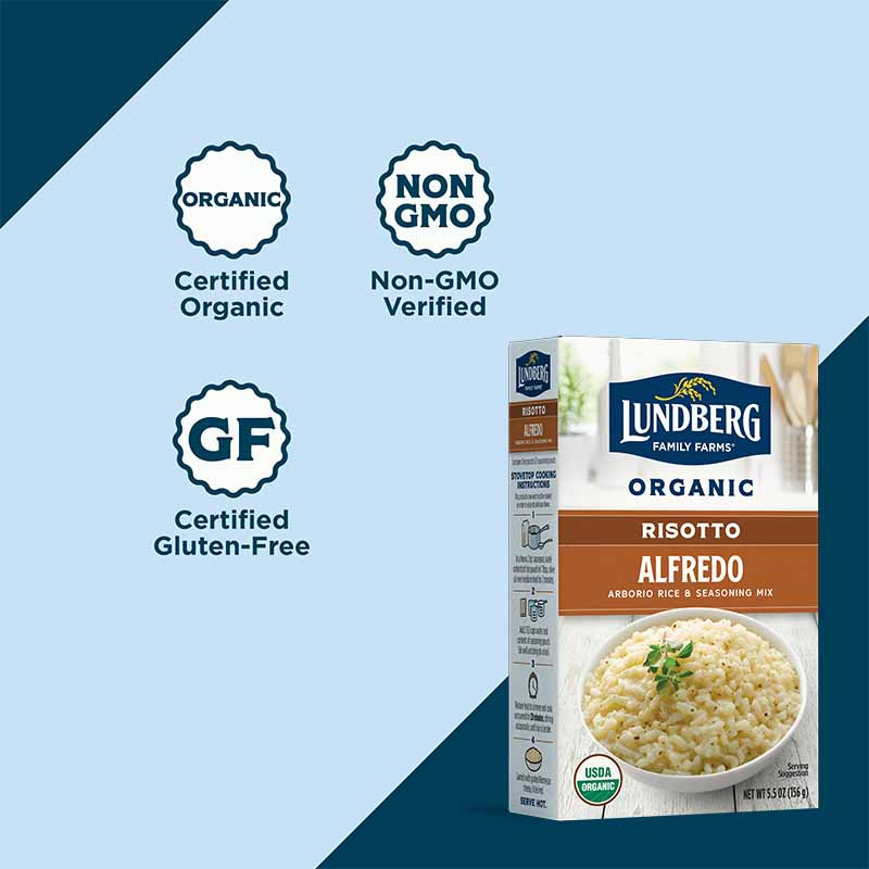 Organic Alfredo Risotto Certifications Buy Now