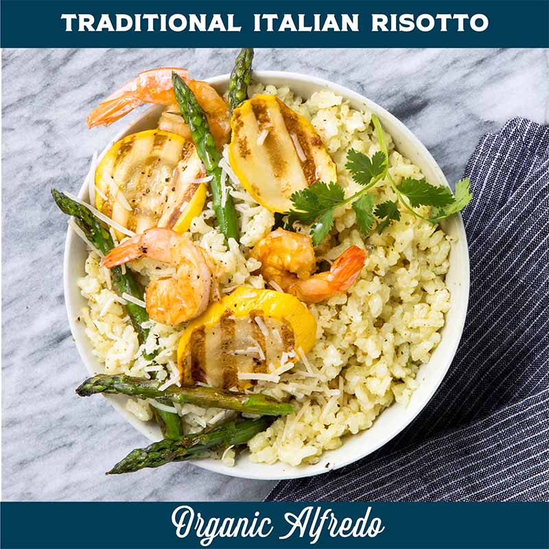 Organic alfredo Risotto Traditional Recipe Dish Buy Now