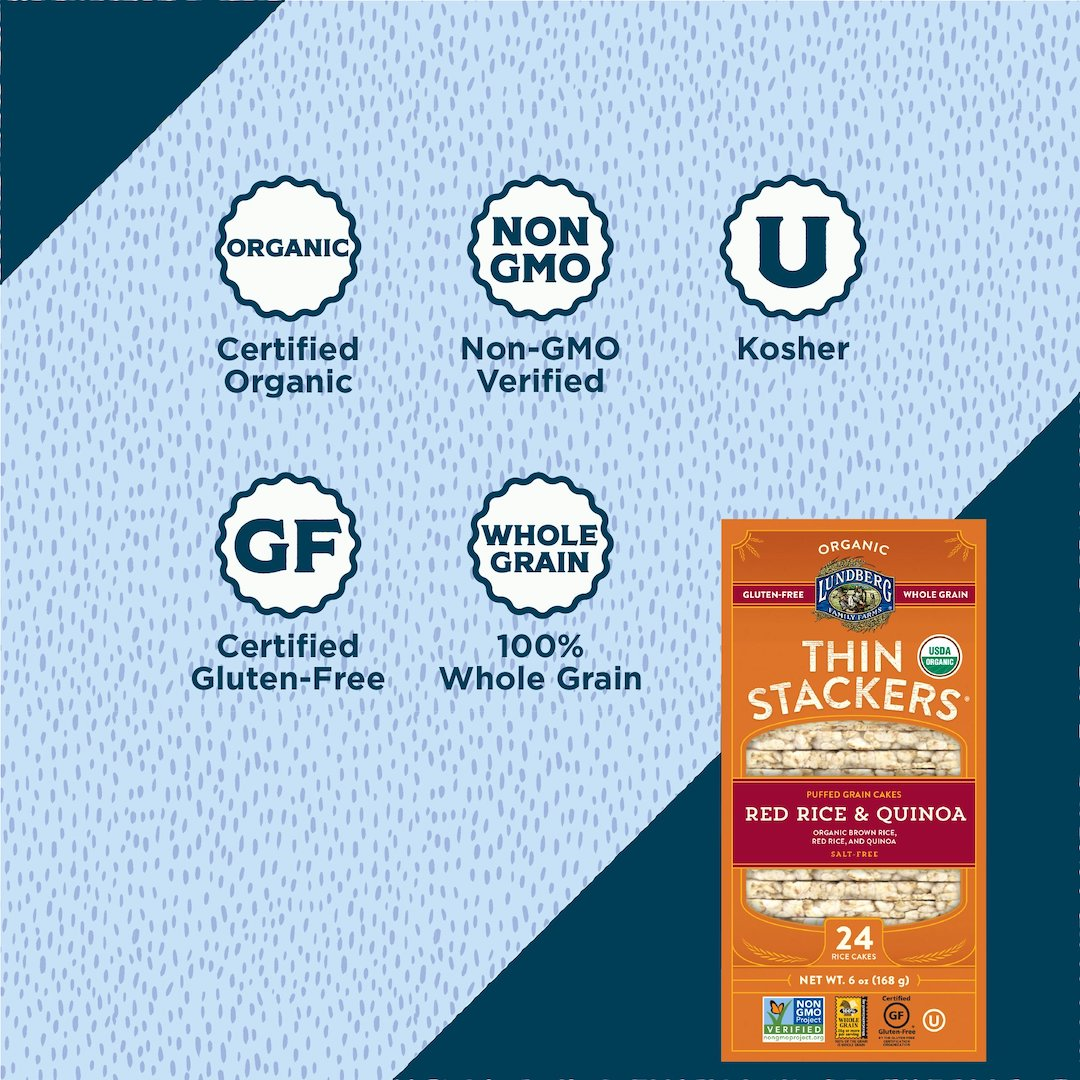 Organic Thin Stackers® - Red Rice & Quinoa