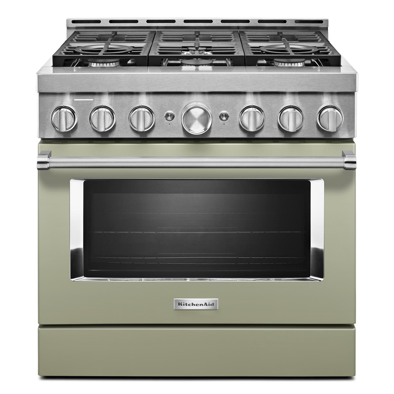 KitchenAid® 36'' Smart Commercial-Style Gas Range with 6 Burners KFGC506JSC