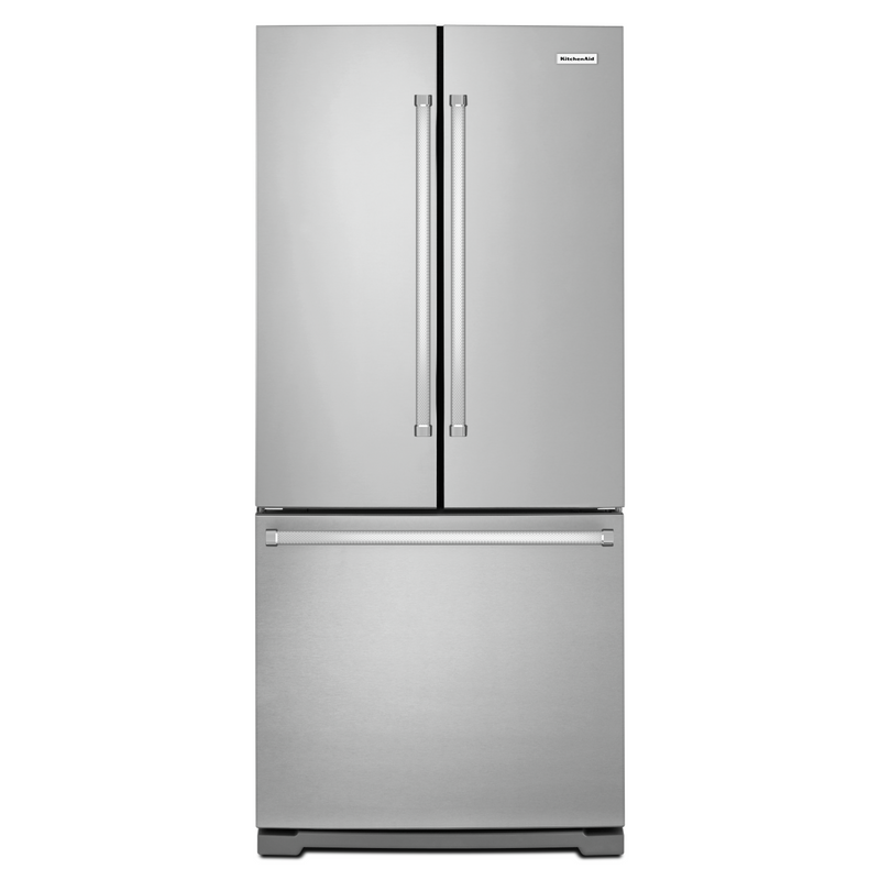 20 cu. Ft. 30-Inch Width Standard Depth French Door Refrigerator with Interior Dispense KRFF300ESS