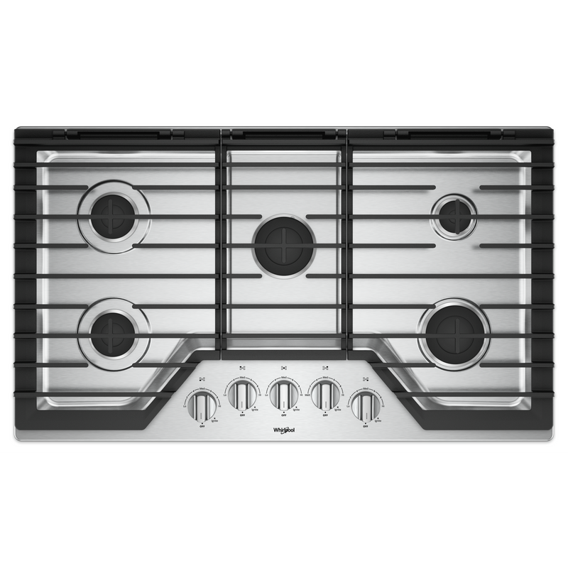 36-inch Gas Cooktop with EZ-2-Lift™ Hinged Cast-Iron Grates WCG55US6HS